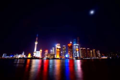 Shanghai The Bund Urban Landscape Bokeh