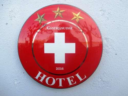 Shield Round Red White Golden Star Marking