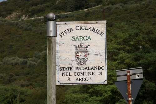 Shield Sarca Valley Italy Tradweg