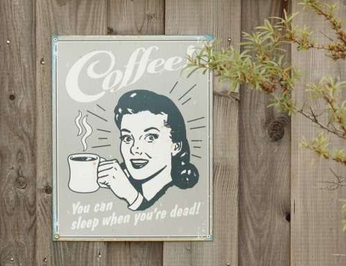 Shield Coffee Old Nostalgia Sheet Woman Drink