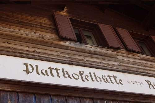 Shield Alpine South Tyrol Italy Hut Mountain Hut