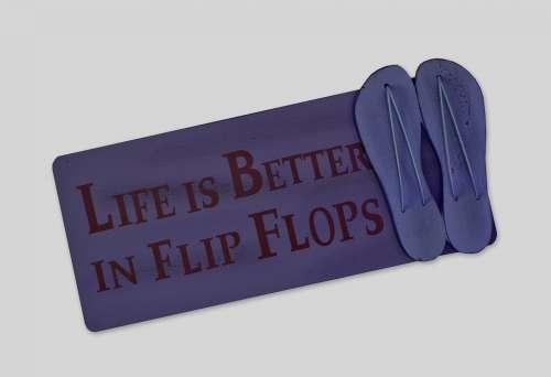 Shield Postcard Live Better Flip Flops Shoes