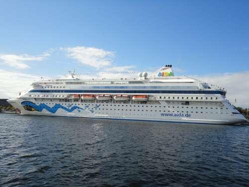 Ship Port Passenger Ship Kiel Baltic Sea Aida