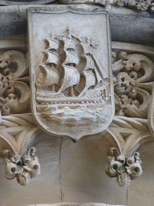 Ship Sailing Vessel Sail Coat Of Arms Caravel