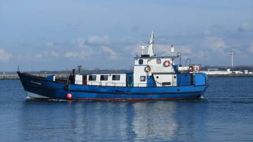 Ship Warnemünde Baltic Sea Northern Germany Sea