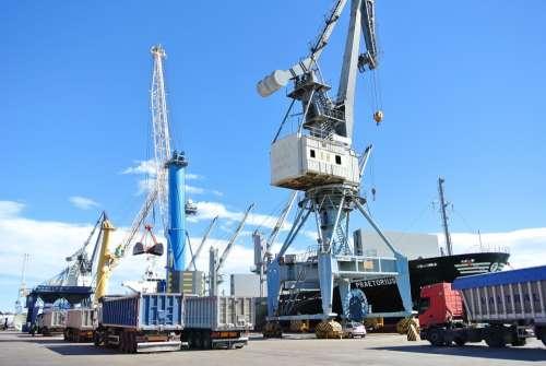 Ship Load Stowage Port Of Sagunto Crane Truck