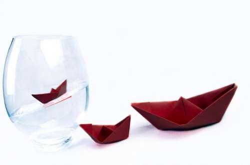 Ship Away Boat Vase Water Paper Boat Travel