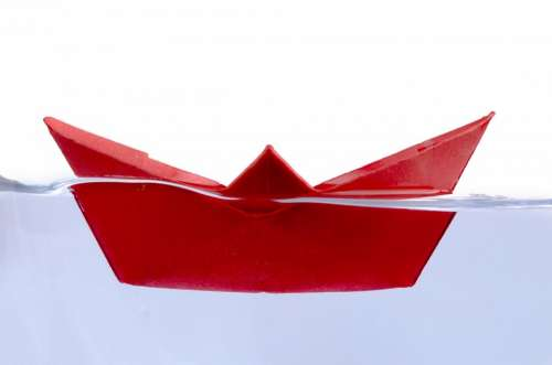 Ship Away Boat Water Red Paper Boat Travel