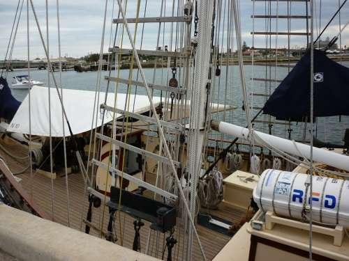 Ship Harbor Port Water Sailing Ship Sailing