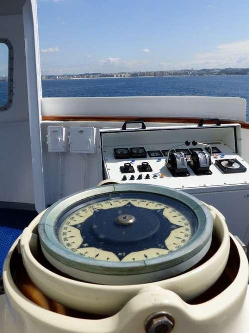 Ship Compass Sea
