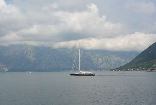 Ship Sea Sky Journey Port Bay City Mountains