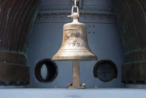 Ship Bell 1904 Ship Deck Portholes Puglia Cruiser