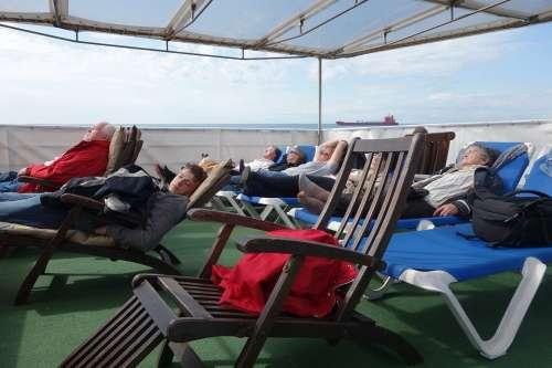 Ship Deck Cruise Deck Chair Deck Ship Sleep Sea