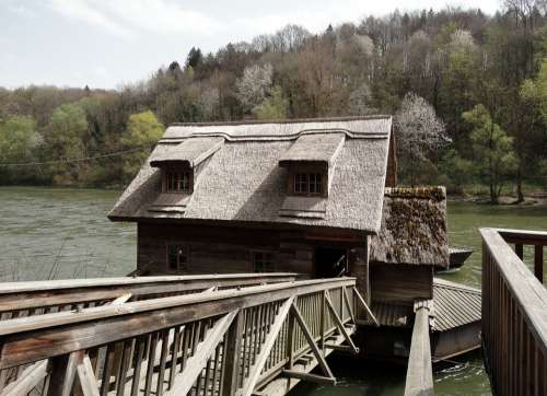 Ship Mill Styria Bruck Of Muhr 19 Century River
