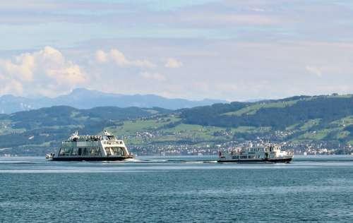 Ships Car Ferry Motor Ship Rhynegg Distant View