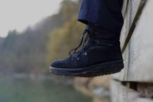 Shoes Worn Shoelaces Active Black River Inn Sit