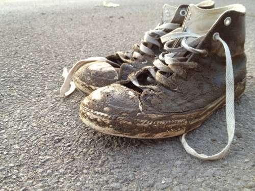 Shoes Mud Dirty Beach Ebb Tides