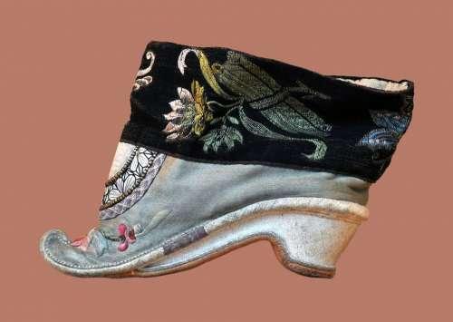 Shoes Chinese 18 Century Decorated Fashion