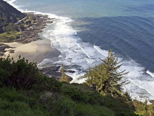 Shoreline Coast Pacific Vista View Landscape