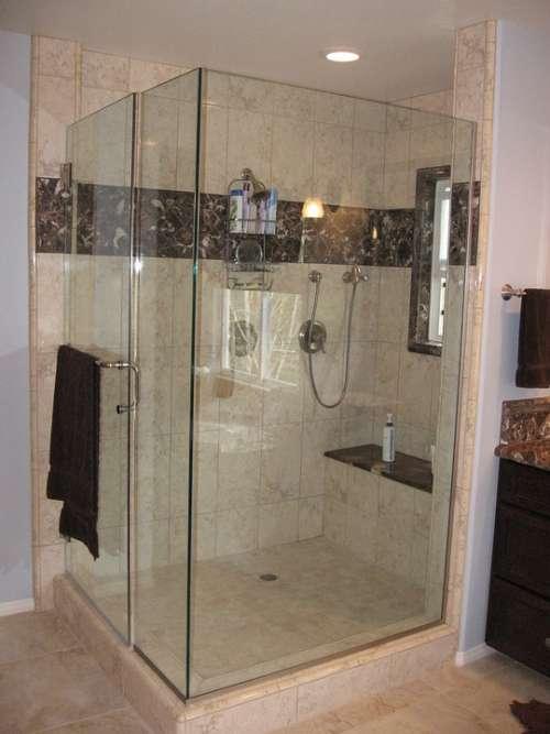 Shower Bathroom Large Spa Marble Tile