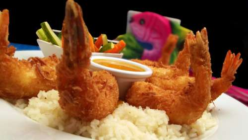 Shrimp Rice Breaded Seafood Delicious Appetizer