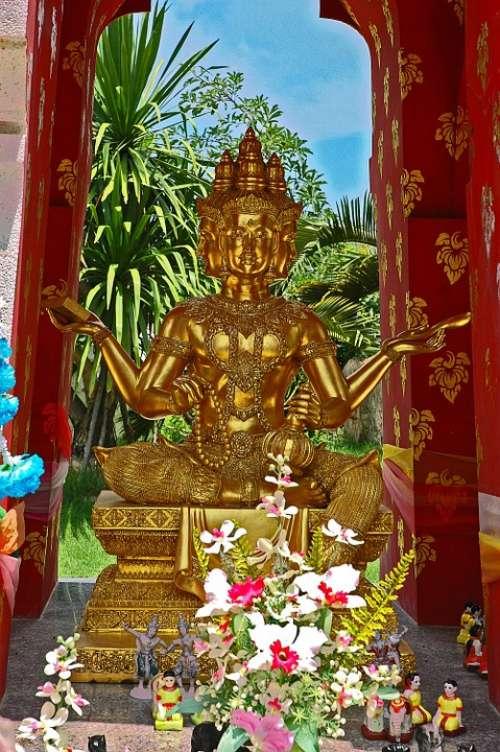 Shrine Deity Pattaya Thailand