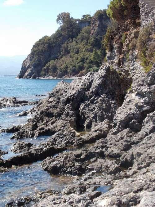 Sicily Costa Rocks Sea