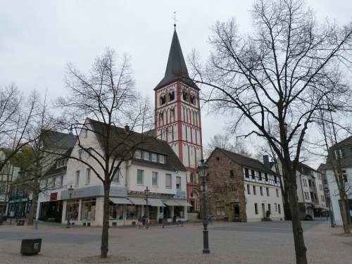 Siegburg Germany Church Space Market Winter Kahl