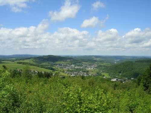 Siegerland Landscape North Rhine Westphalia Forest
