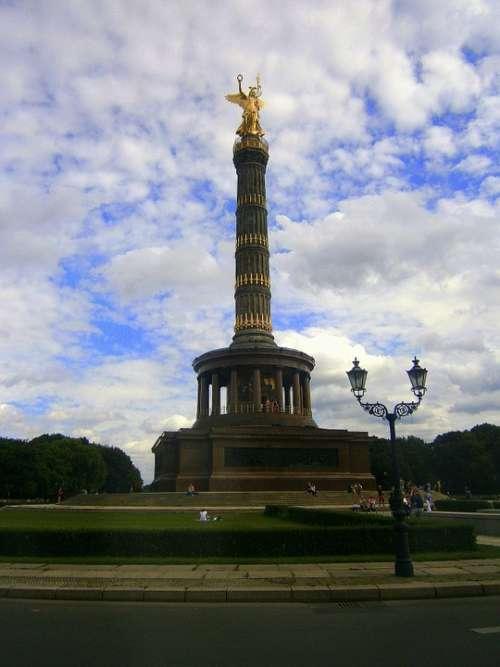 Siegessäule Pillar Berlin Landmark Monument