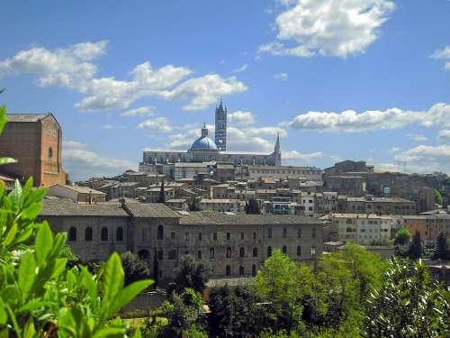 Siena Italy Europe Tuscany Italian Landmark