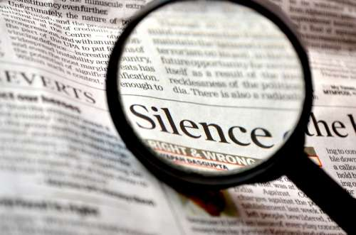 Silence Magnifying Glass Loupe Search Enlarge Read