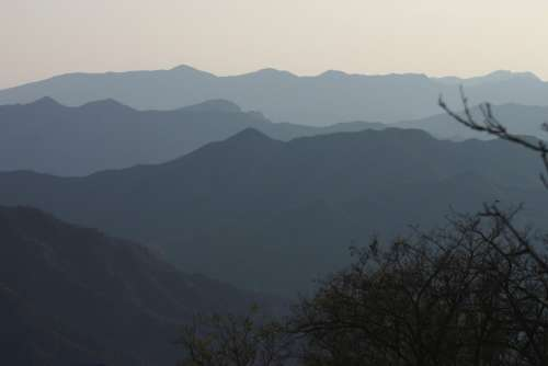 Silhouette Mountains Shadow