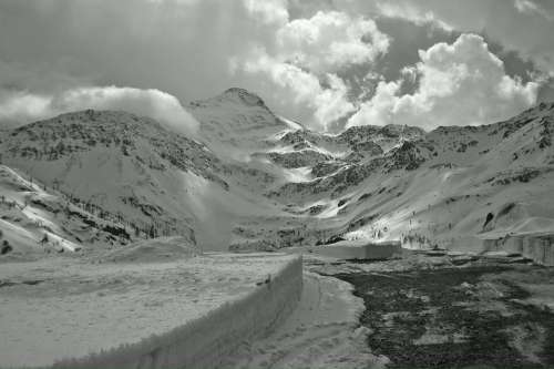 Simplon Pass Switzerland Snow Landscape Winter