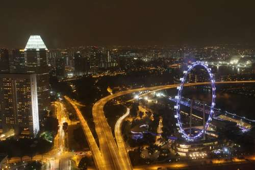 Singapore Flyer Ferris Wheel Scenery