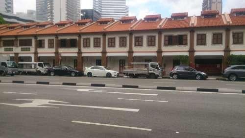 Singapore Building Shophouse Landmark Asian