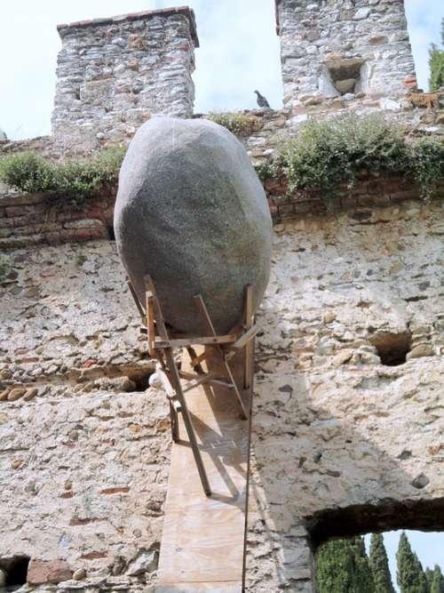 Sirmione The Stone Of Sirmione Garda Castle Wall