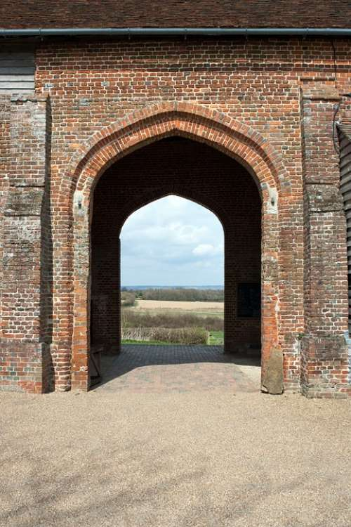 Sissinghurst Castle Barn Arcade Arched Openings