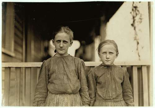 Sisters Girls Young Standing Historic People