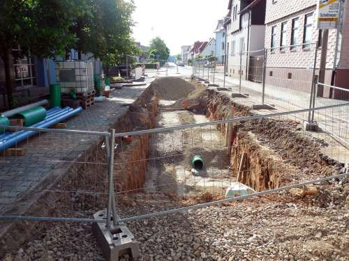 Site Construction Road Construction Pit