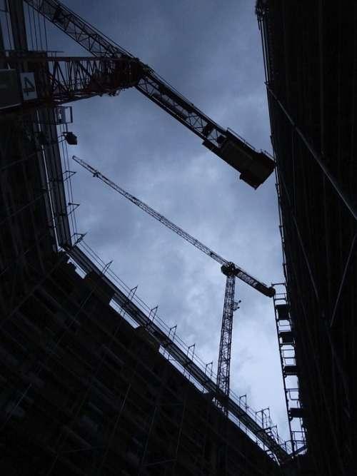 Site Baukran Construction Work Scaffold