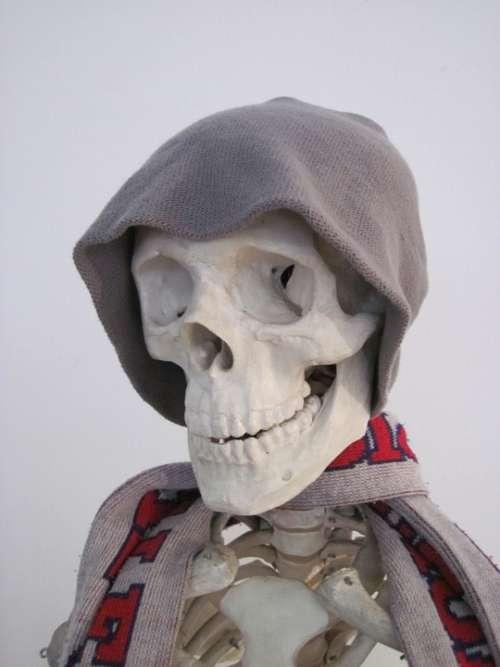 Skeleton Cap Scarf Bone Fun