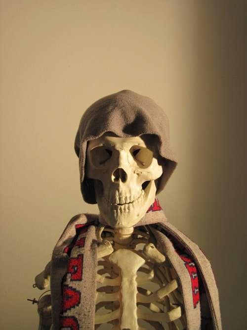 Skeleton Cap Scarf Side Light Fun Bone Skull