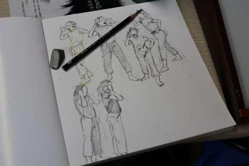 Sketch Figure Drawing Pencil