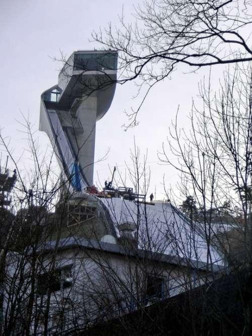 Ski Jump Bergisel Innsbruck Winter Ski Jumping