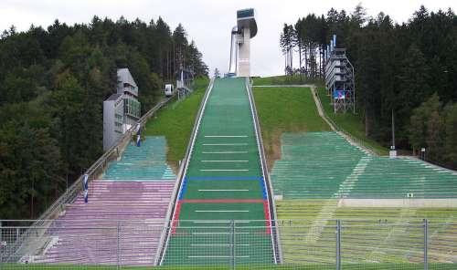 Ski-Jump Innsbruck Austria Winter Olympics Alps