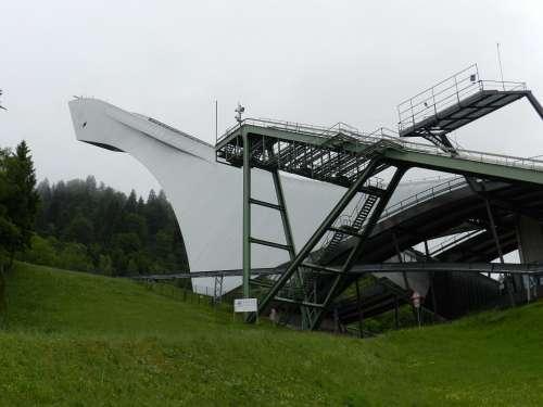 Ski Jump Bavaria Germany