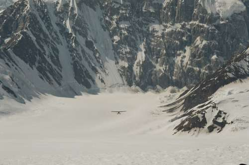 Ski Plane Bush Pilot Alaska Denali National Park