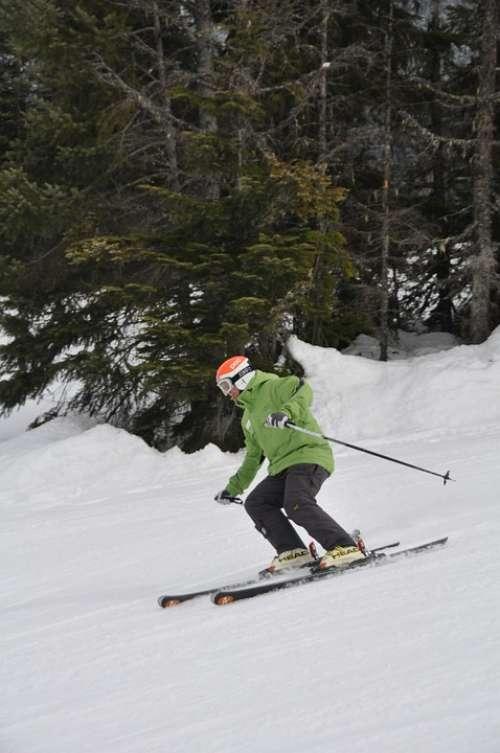Skiing Whistler Canada British Columbia Winter Ski