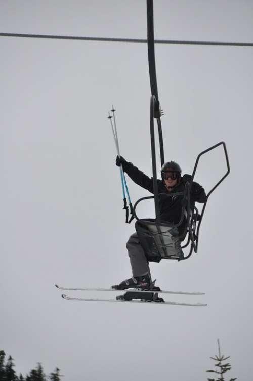 Skiing Whistler Canada Ski Lift British Columbia